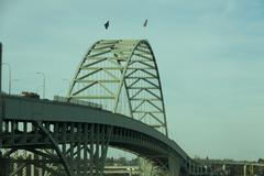 Interstate 405 Bridge over the Willamette River - stock photo
