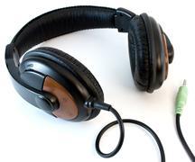 Headphones isolated on white background Stock Photos