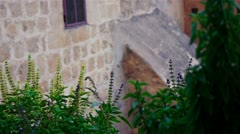Saint Savas monastery near Jerusalem, Israel Stock Footage