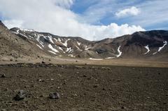 mount tongariro, tongariro national park, new zealand - stock photo