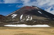 Stock Photo of mount ngauruhoe, tongariro national park, new zealand