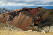 Stock Photo of red crater, tongariro national park, new zealand