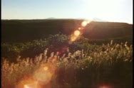 Stock Video Footage of Desert plateau scene, sunset, backlighting, Mesa Verde National Park, Colorado