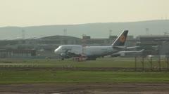 Lufthansa Plane on Tarmac Stock Footage