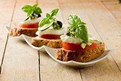 Caprese starter Stock Photos