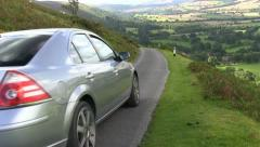 A car on top of the Long Mynd, Shropshire Stock Footage