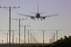 Lentokone Landing Kuvituskuvat