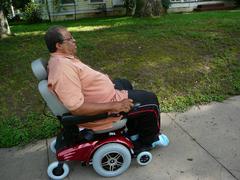Senior Man on Scooter Stock Photos