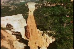 Bryce Canyon National Park, Utah, medium shot, balanced rock Stock Footage