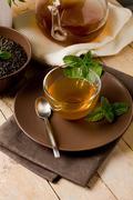 Stock Photo of green mint tea