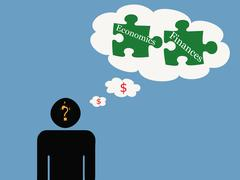 Thinking About Money Stock Illustration