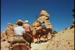 Bryce Canyon National Park, Utah, POV from horseback, bouncy, on trail Stock Footage