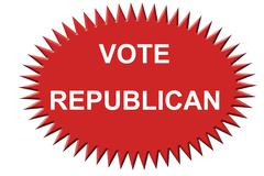 Vote Republican Stock Illustration