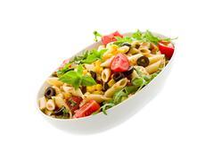 pasta salad isolated - stock photo