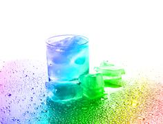 Stock Illustration of glass with a drink and ice