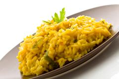 Risotto with saffron isolated Stock Photos