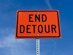 Stock Photo of End detour