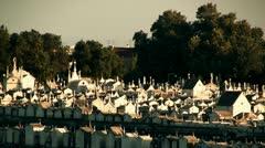 Cemetery timelapse - stock footage