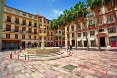Street of old spanish town. Stock Photos