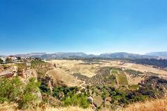 view on fields of andalusia - stock photo