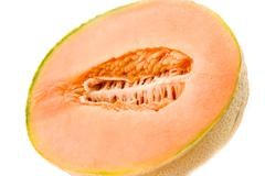 melon on white background - stock photo