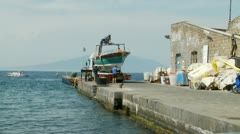 Boat put on lorry, Sorrento Stock Footage