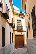 Stock Photo of street of old spanish town.