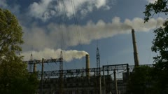 Electrical power station Stock Footage