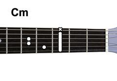 Guitar chords diagrams - cm Stock Photos