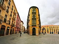 Street of old spanish town. Stock Photos