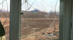 Korean Soldiers on the DMZ - stock footage