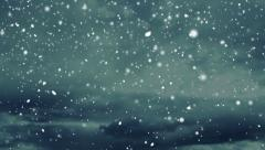Falling Snow - stock footage