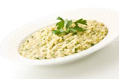 Risotto with herbs Stock Photos