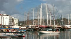 boats in Fethie 1 - stock footage