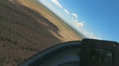 Time Lapse Glider Plane Lands Stock Footage