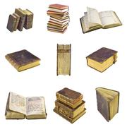 old-time books - stock photo