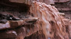 Muddy River Waterfall - stock footage