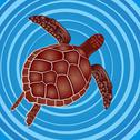 Stock Illustration of turtle in the water