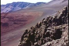 Hawaii, Island of Maui, Haileakula crater, medium shot into the cinder cone - stock footage