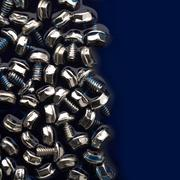 screws chrome - stock photo