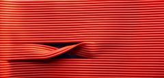 red vinyl - stock photo