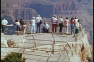 The Grand Canyon, spectator viewing platform, wide shot Stock Footage