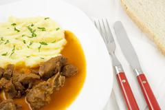 Stock Photo of goulash meal