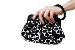 black woman bag - stock photo