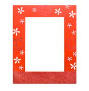 Stock Photo of red photo frame