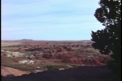 The Painted Desert in Arizona, wide shot Stock Footage