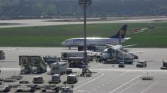 Lufthansa Plane Tarmac 2 - stock footage