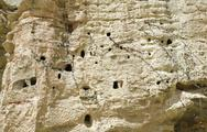 Stock Photo of ancient human settlement in nepalese caves