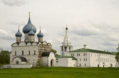 Ancient kremlin in the suzdal town Stock Photos