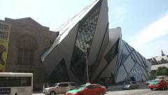 Royal Ontario museum (ROM) , Toronto, Canada Stock Footage